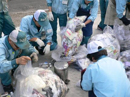 活動例①:ゴミの分別勉強会